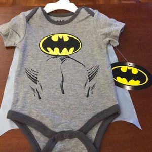 Batman onesie with a detachable cape